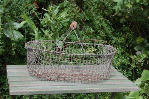 vintage wire basket storage trug