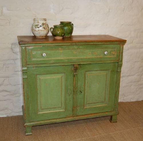 antique rustic pine dresser base side board in original paint