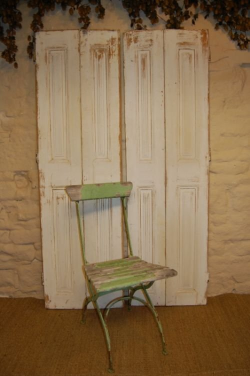 antique french window shutters