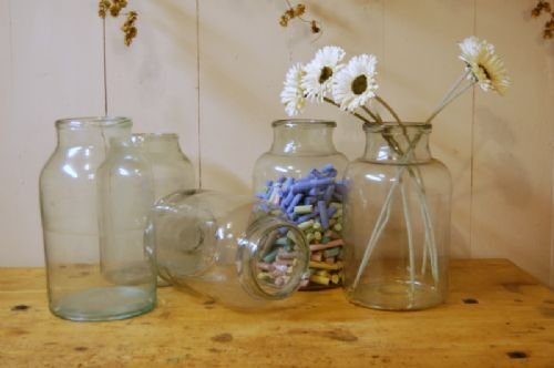 antique glass grocers jar apothecary jar