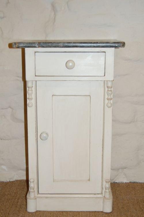 antique pine bedside cabinet pot cupboard