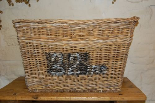 victorian wicker mill basket skip