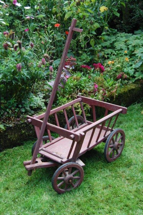 antique wooden dog cart goat cart