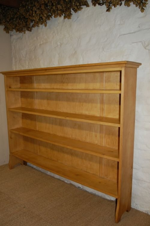 victorian pine shelf book case storage shelf
