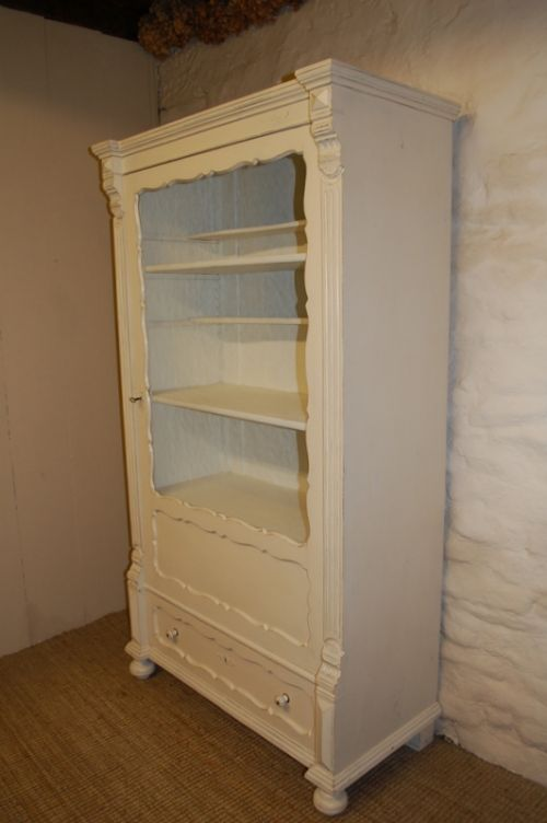 Old Book Display Case : Antique pine display cabinet book case vitrine