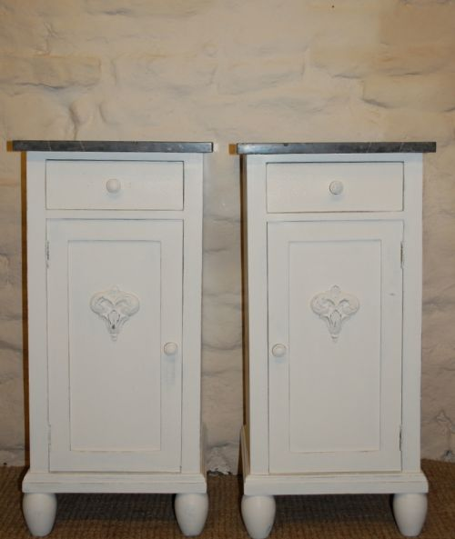 antique pair of pine bedside cabinets potcupboards