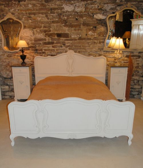 french king size louis xv revival oak bed
