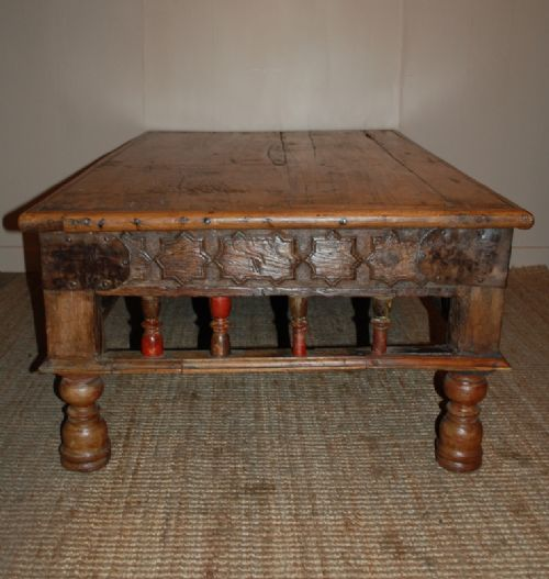 Antique Rajasthani Teak Coffee Table / Low Table