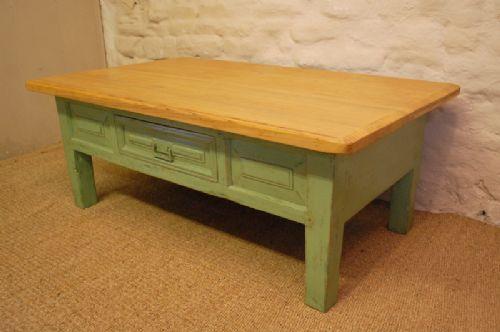 Antique Pine Coffee Table Low Table Original Paint 189057
