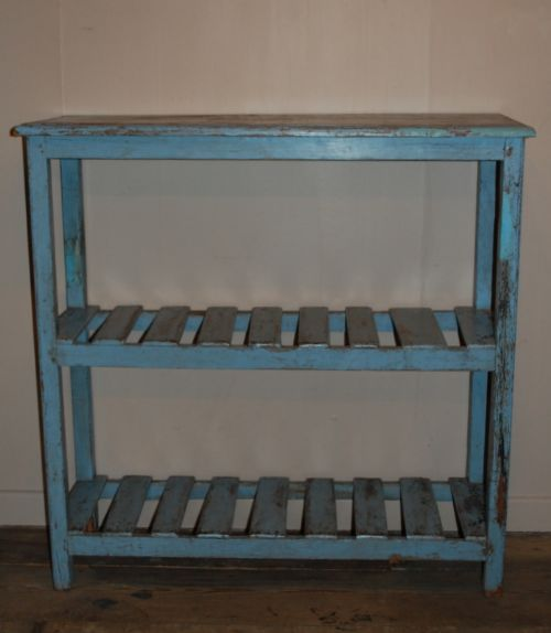 antique rustic painted book shelf storage shelf
