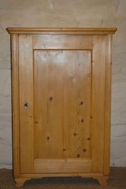 antique rustic pine storage cupboard