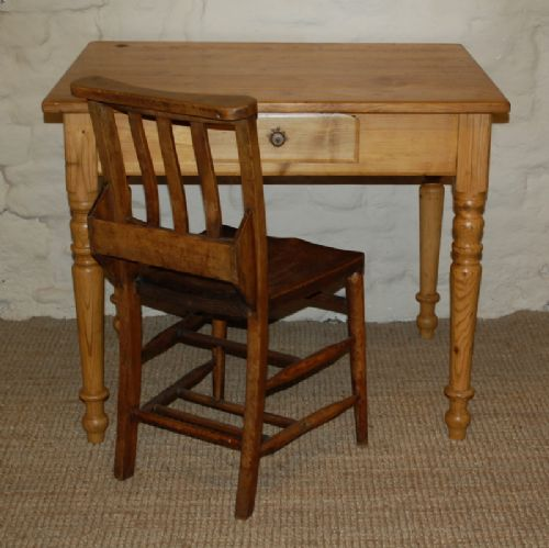 antique pine desk table computer table side table