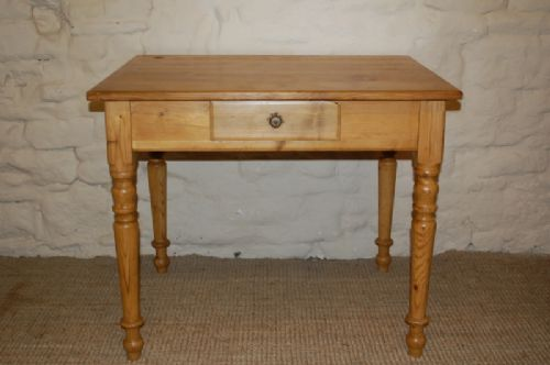 Item saved. The ANTIQUE PINE DESK ... - Antique Pine Desk Table / Computer Table / Side Table 192712 Www