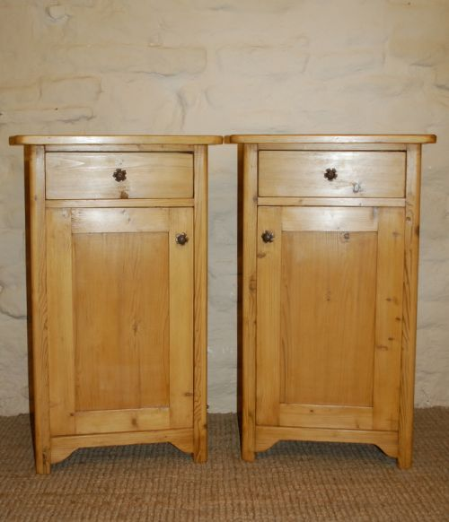 antique pine bedside cabinets pot cupboards - Antique Pine Bedside Cabinets / Pot Cupboards 193964 Www.cottage
