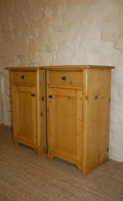 Thank you. - Antique Pine Bedside Cabinets / Pot Cupboards 193964