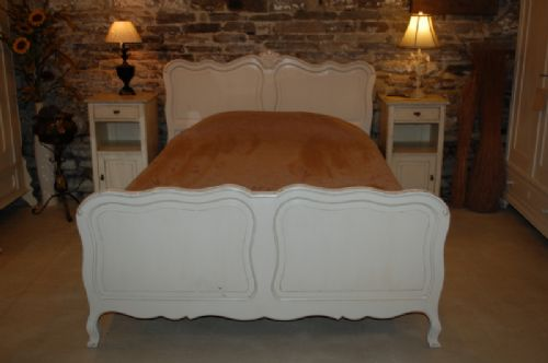antique french provencal double bed