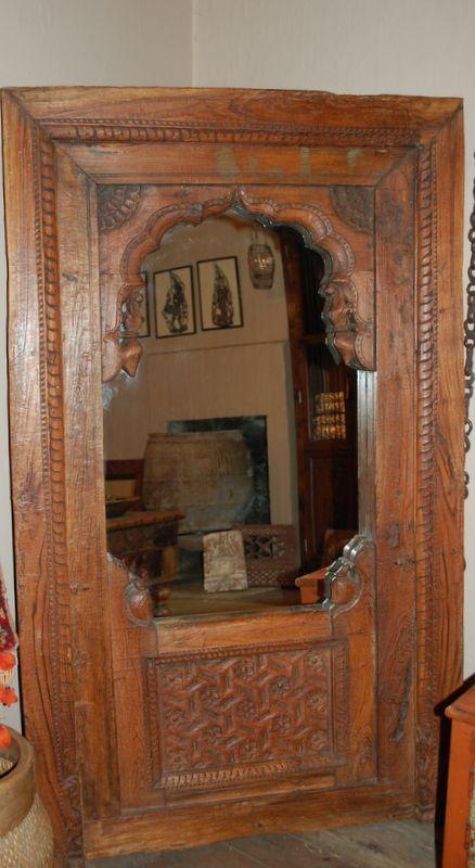 antique hand carved teak mirror decorative frame