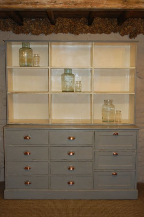 large pine dresser shop fitting bookcase