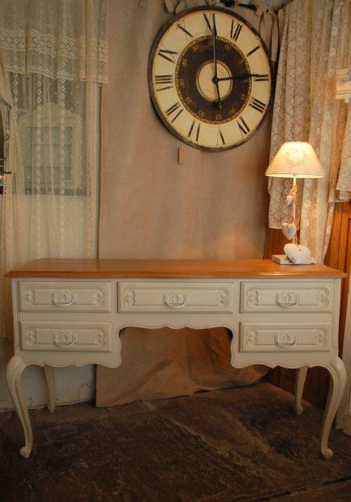 vintage french oak dressing table knee hole desk