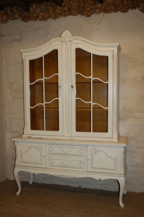 french louis xv style painted display cabinet dresser book case
