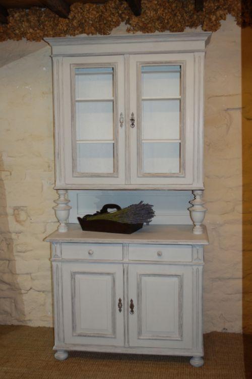 Antique Painted Pine Kitchen Dresser Kitchen Cabinet 209033