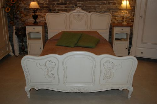 antique french louis xv revival double bed