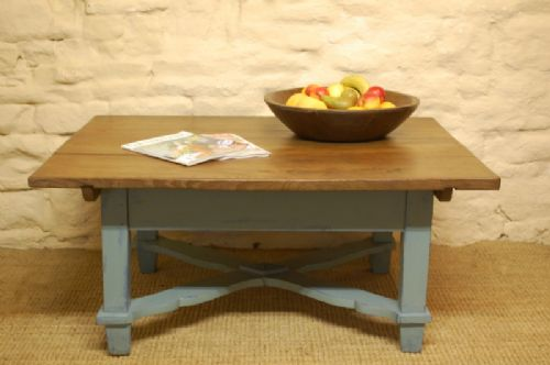 Merveilleux Antique Painted Rustic Low Table Coffee Table Sofa Table