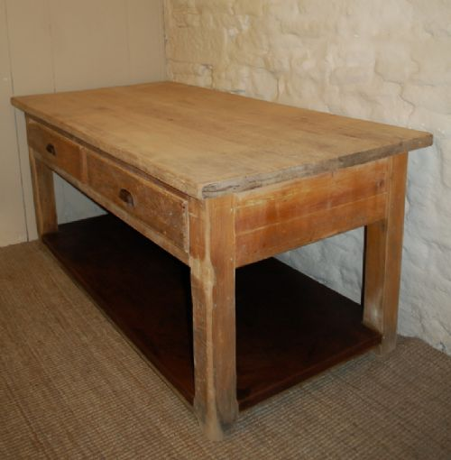 Antique Pine Kitchen Table/ Island Table / Baker's Table