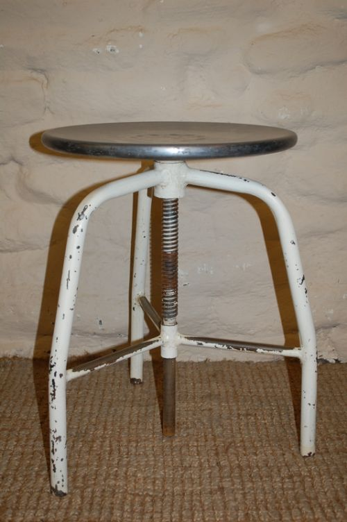 vintage industrial machinist's stool