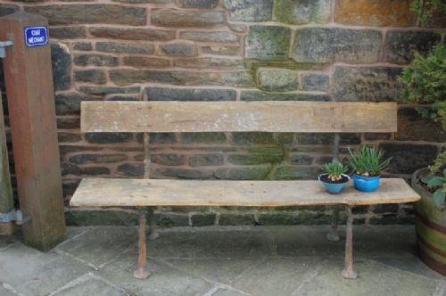 antique french cast iron twig garden bench
