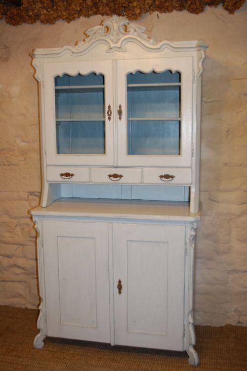 antique french louis philippe dresser kitchen cabinet