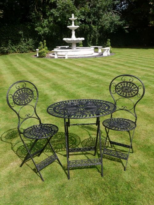 Metal Garden Furniture And Structures At Cottage Antiques Stock