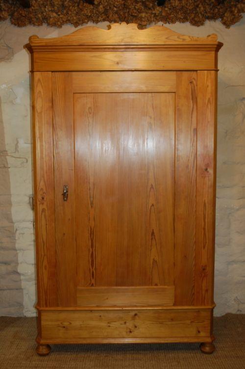 antique pine single wardrobe armoire 1820