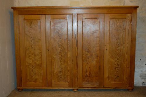 antique victorian four door pine bookcase school cupboard
