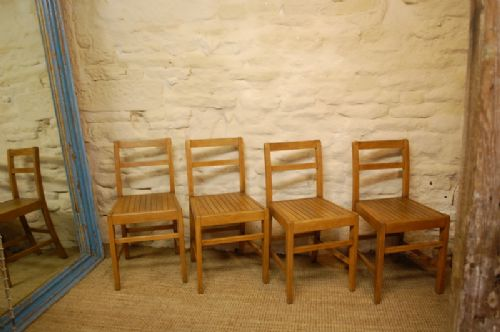 antique set of four chapel chairs 14 available