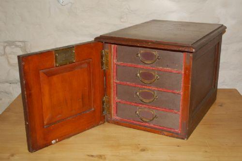 antique desk top filing cabinet