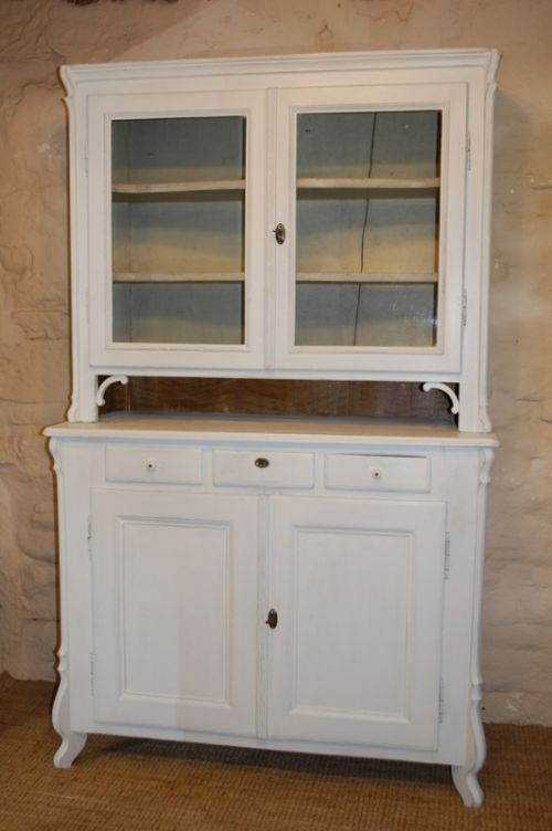antique french louis philippe kitchen dresser glazed cabinet