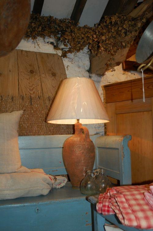 antique greek amphora lamp