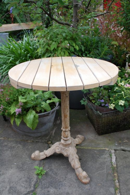 Antique French Cast Iron Garden Table    Sellingantiques.uk