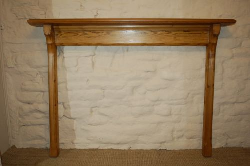 antique victorian pine fire surround