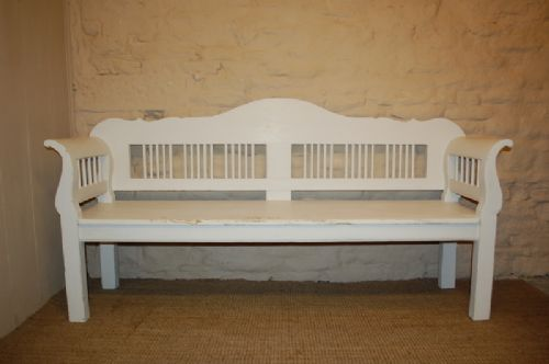 antique pine country settle bench pew