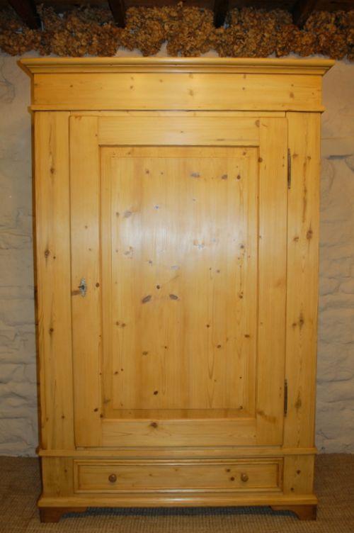 antique pine single wardrobe 1830