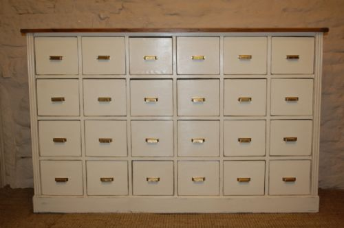 antique pine bank of drawers apothecary chest