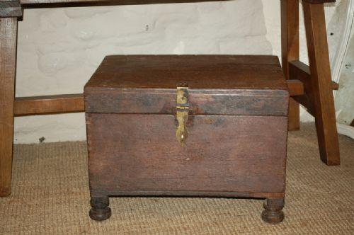 antique teak strong box treasure chest