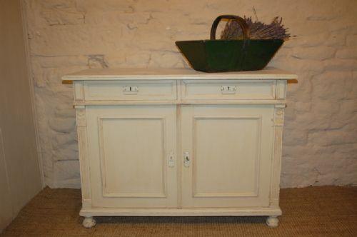 antique pine dresser base 1900 art nouveau original paint