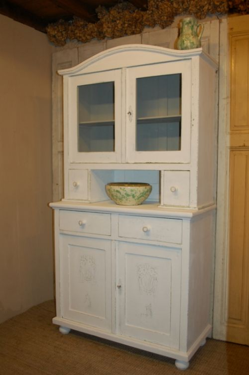 antique rustic pine kitchen dresser glazed kitchen cupboard 1860