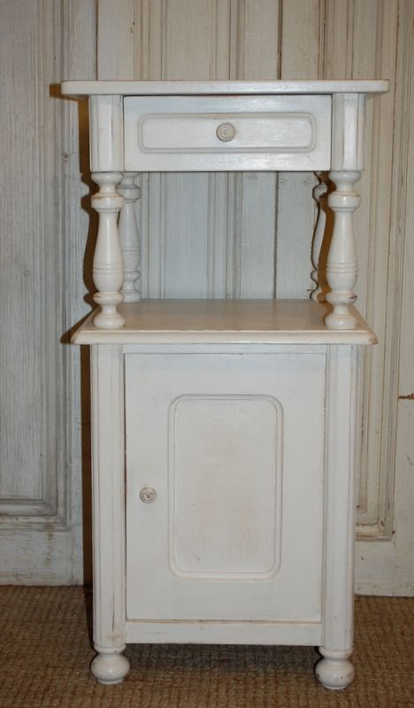 antique danish pine cabinet painted cupboard bedside cabinet