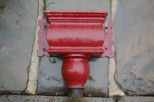 antique period cast iron drain hopper head