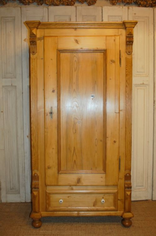 antique pine storage cupboard larder cabinet linen cupboard - Antique Pine Storage Cupboard / Larder Cabinet / Linen Cupboard