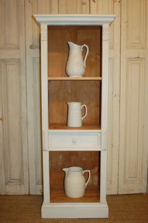 vintage reclaimed pine bookcase storage shelf